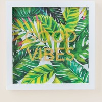 Good Vibes Palm Wall Decor