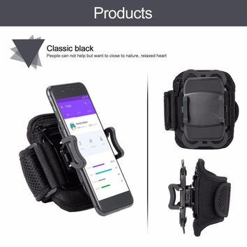 New Running Sports Armband Retractable Mobile Phone Holder Clip Stand Sports Belt GYM Arm Band Strap Activities Accessories