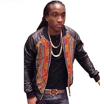 Custom Made High Quality African Dashiki style Wax Printed Jacket