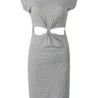Gray Cut-Out Waist Dress