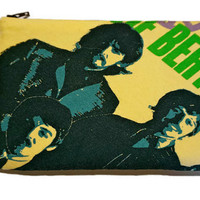 The Beatles Clutch Upcycled All You Need Is Love T-shirt Bag