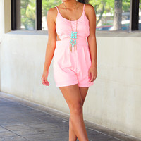 Story Of A Girl Romper: Pink
