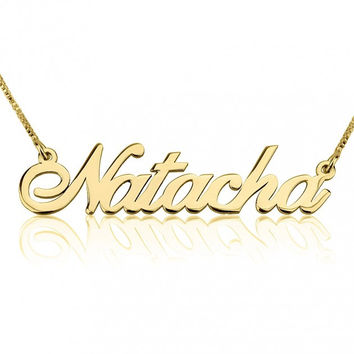 Name Necklace Alegro Style Font 24k GP