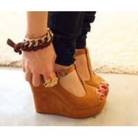 Fish wedges mouth sandals wedges - Lovely Fashion