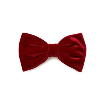 Velveteen Bow Hair Barrette