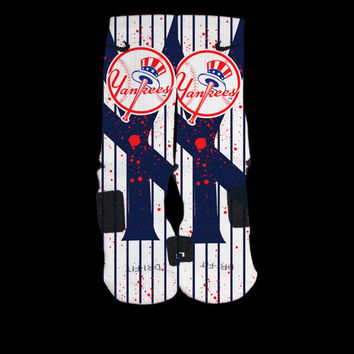 New York Yankees Inspired Custom Nike Elite Socks