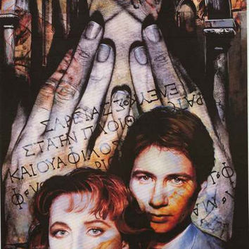 X-Files Mulder and Scully Enigma 1996 Poster 23x35