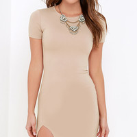 So Typically Me Beige Dress