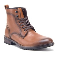 Men's Tall Lace Up Distressed Casual Military Moto Riding Dress Boots
