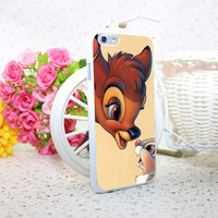 bambi and thumper White Hard Case Cover for iPhone 6 6s 7 7 Plus 5 5s 4 s White Skin Print Series