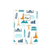 Travel The World Passport Holder - Leather Passport Cover - Vintage Passport Wallet - Travel Accessory Gift - Travel Wallet for Women and Men_LOKISHOP