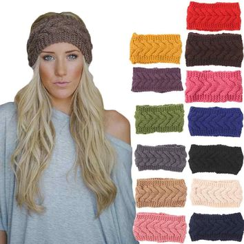 Feitong 2018 Winter Hats for Women Beanies Knitted Cap Crochet Hat Rabbit Fur Pompons Ear Protect Cap Fashion Ladies Beanie