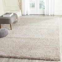 Safavieh California Cozy Solid Beige Shag Rug (8' x 10') | Overstock.com Shopping - The Best Deals on 7x9 - 10x14 Rugs