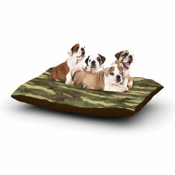 "Bruce Stanfield ""Dirty Camo"" Green Beige Dog Bed"