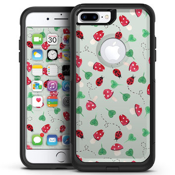 The Sping Lady Bug and Heart Clovers - iPhone 7 or 7 Plus Commuter Case Skin Kit