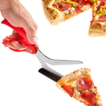 Scizza Pizza Scissors: Slice pizza on any surface and serve it up.