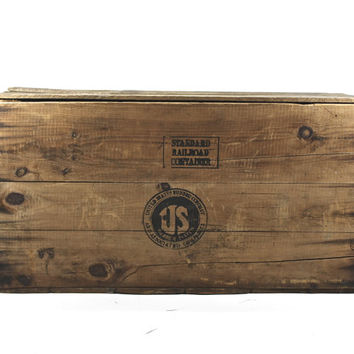 Vintage Wood Crate XXL / Industrial / Vintage Wood Crate With Lid