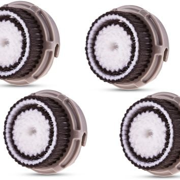 Compatible Clarisonic Replacement Brush Heads for Normal Skin (4 Pack)