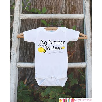 Big Brother Pregnancy Announcement Shirt - Big Brother to Bee Outfit - Big Brother - Sibling Baby Reveal Onepiece for Family & Grandparents