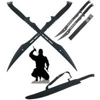 Ace Martial Arts Supply Double Ninja Swords with Sheath