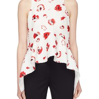 Proenza Schouler | Floral print jacquard sleeveless peplum top | Women | Lane Crawford - Shop Designer Brands Online