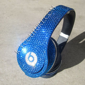 BLUE Bling BEATS by Dre Bedazzle Yours in Swarovski Crystals