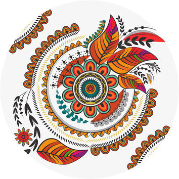 Autumn Mandala Circle Wall Decal