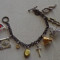 Harry Potter Dealthy Hallows bracelet by ang549 on Etsy