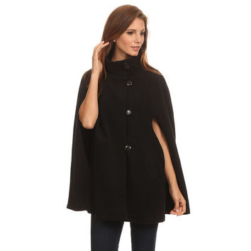 Fleece Cape Poncho-More Colors Available