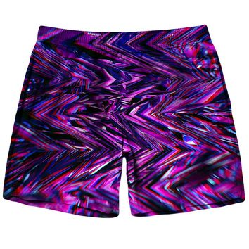 Purple-Glitch Shorts