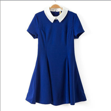 Slim Dolls Short Sleeve Skirt One Piece Dress [4917858564]