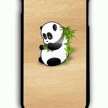 iPhone 6S Plus Case - Hard (PC) Cover with panda black white wood Plastic Case Design