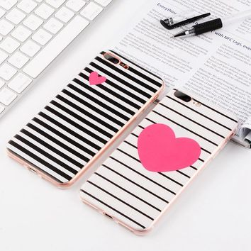 Silicon Painted Phone Case for iPhone 6 6S 7 Plus 5 5S SE 4 4S