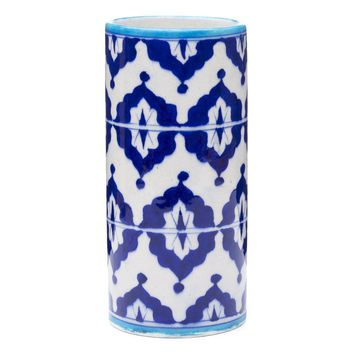 Blue Pottery Vase - Indigo  (GC)