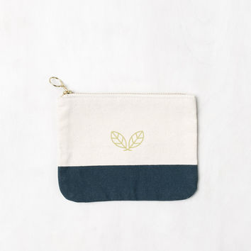 Leaf Canvas Pouch