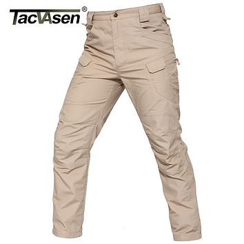 TACVASEN New IX7 II Men Tactical Pants BDU Waterproof Cargo Pants Checker Casual Pants Army Military Combat Trousers TD-YCXL-034