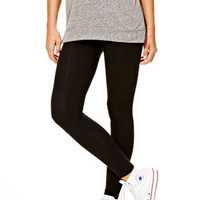 Solid Color Legging Black