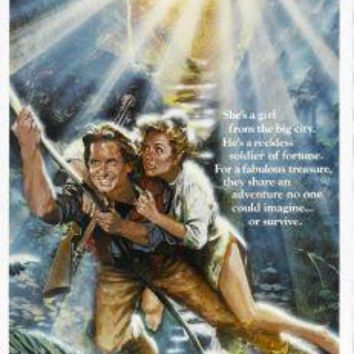 "Romancing The Stone Poster Movie Poster Insert 14""X36"""