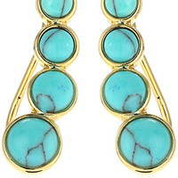 Rebecca Minkoff Boho Bead Climber Earrings