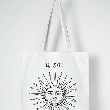 Sun Graphic Canvas Tote