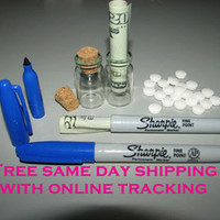 2pc Sharpie pen marker stash can hidden compartment, cash, pills, money, jewlery