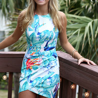 Aloha Floral Envelope Dress