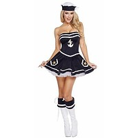 Adult 1950's Naughty Navy Girl Halloween Costume