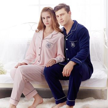 Pajamas Men and Women set  leisure warm