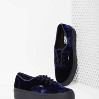 Vans Authentic Platform Sneaker - Blue Velvet