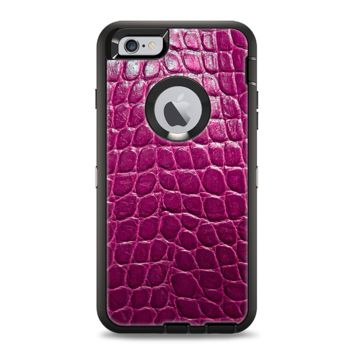The Bright Magenta Aligator Skin  Apple iPhone 6 Otterbox Defender Case Skin