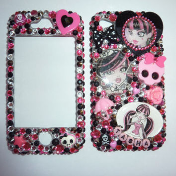 Custom made Monster high i phone 4 front by RainbowCupcakeQueen