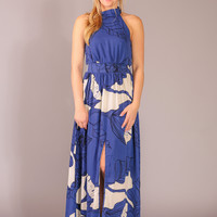 Sing Me a Song Maxi Dress - Blue