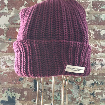 Genuine Workwear Knit Hat, Burgundy