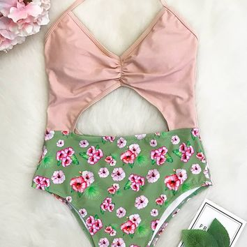 Cupshe Sweet Heart Halter One-piece Swimsuit